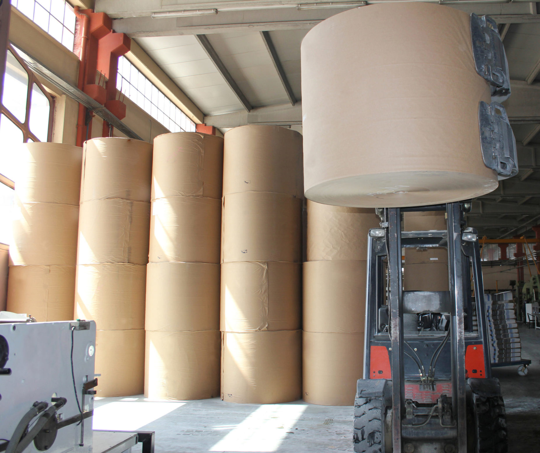 Roll Paper in warehouse